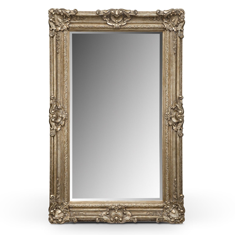 Silver Antique Floor Mirror American Signature Furniture