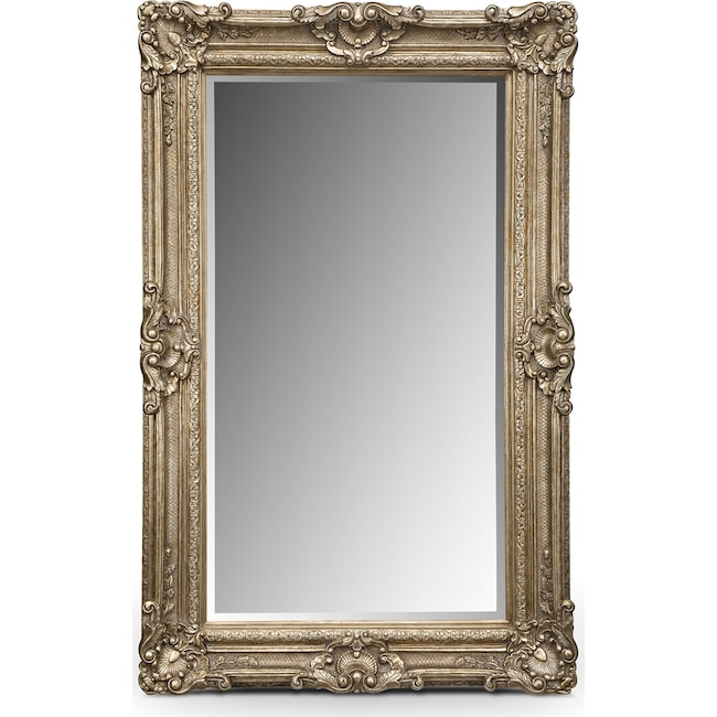 Home Accessories - Silver Antique Floor Mirror