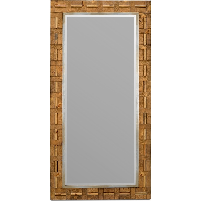 Home Accessories - River Floor Mirror - Tan