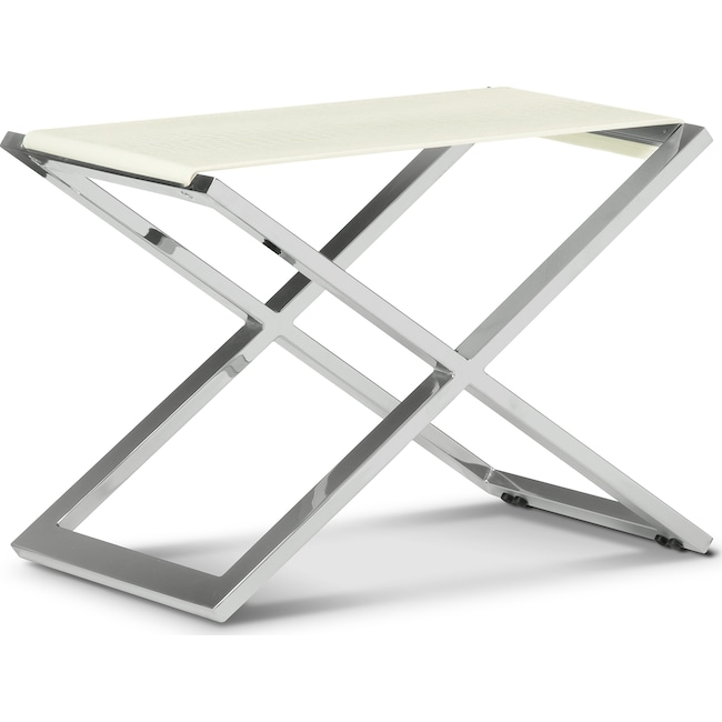 Accent and Occasional Furniture - Alex Bench - White