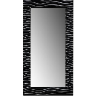 Ella Floor Mirror - Black