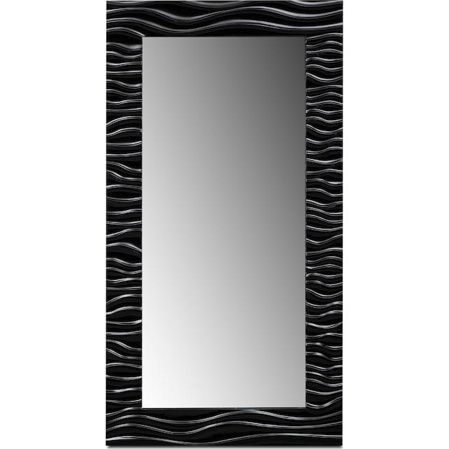 Accent and Occasional Furniture - Ella Floor Mirror - Black