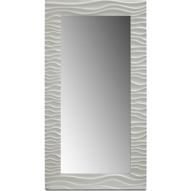 Home Accessories - Ella Floor Mirror - White