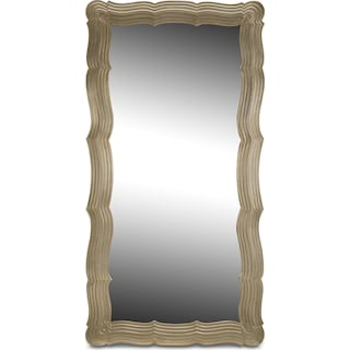 Bella Antique Floor Mirror - Antique Silver
