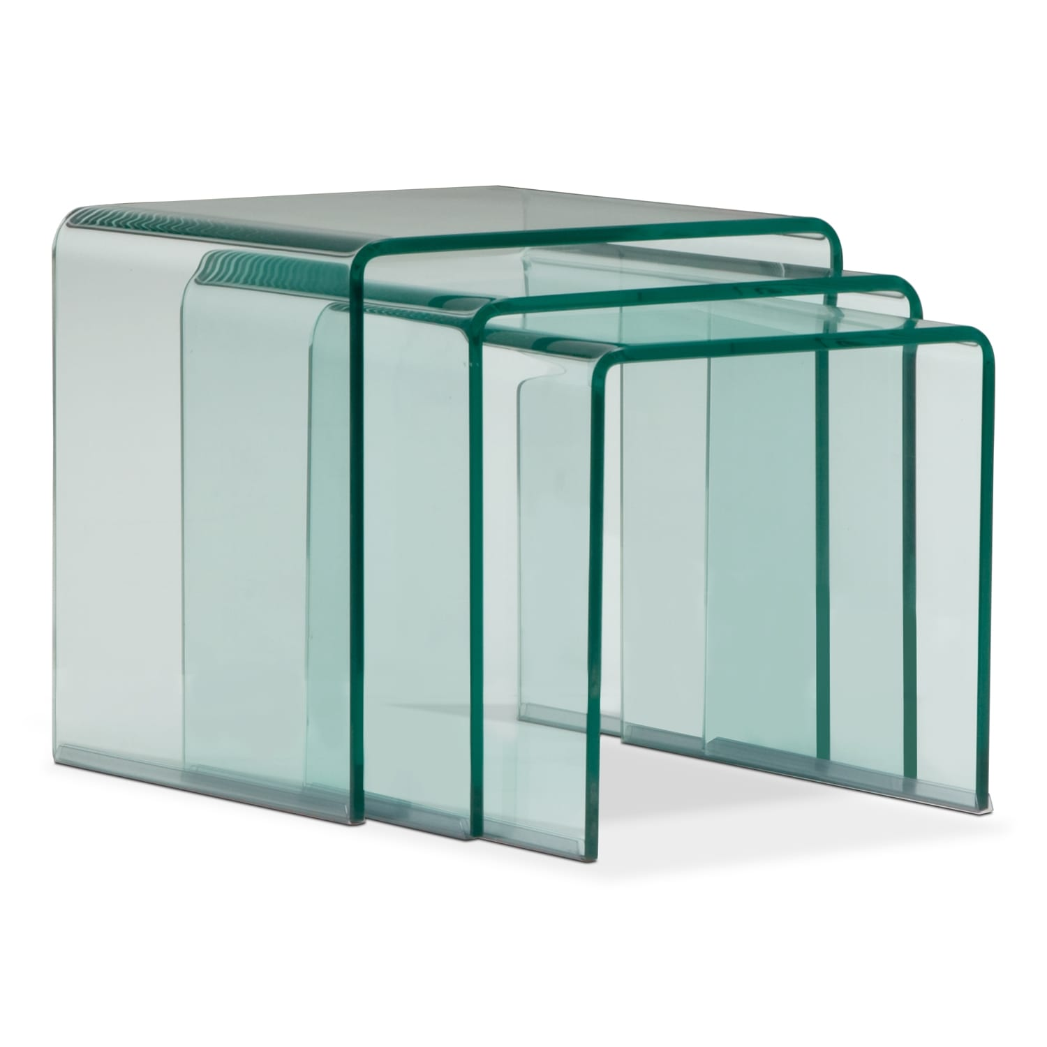 Accent and Occasional Furniture - Trio Nesting Tables - Glass