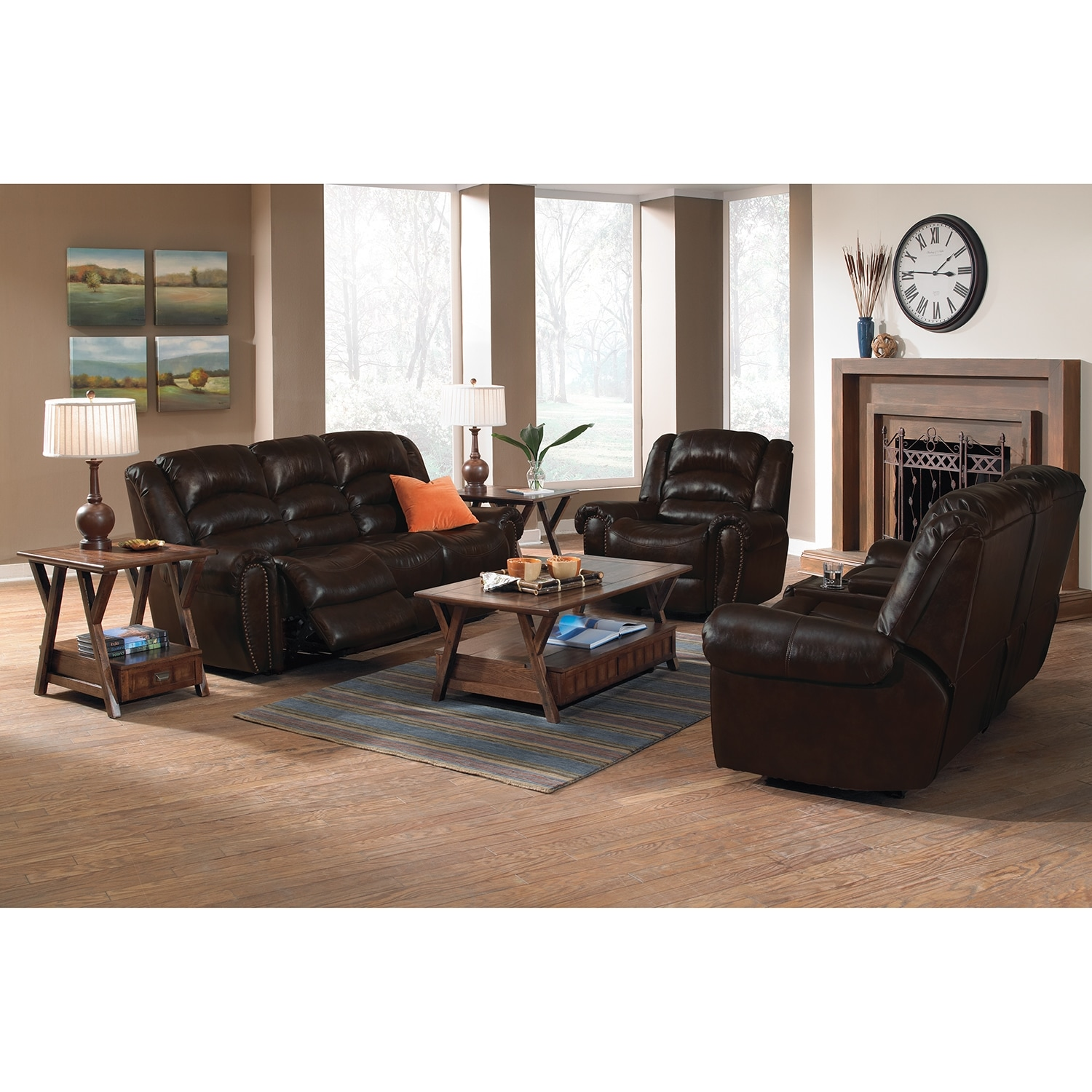 Living room furniture packages american signature furniture for Furniture 3 room package
