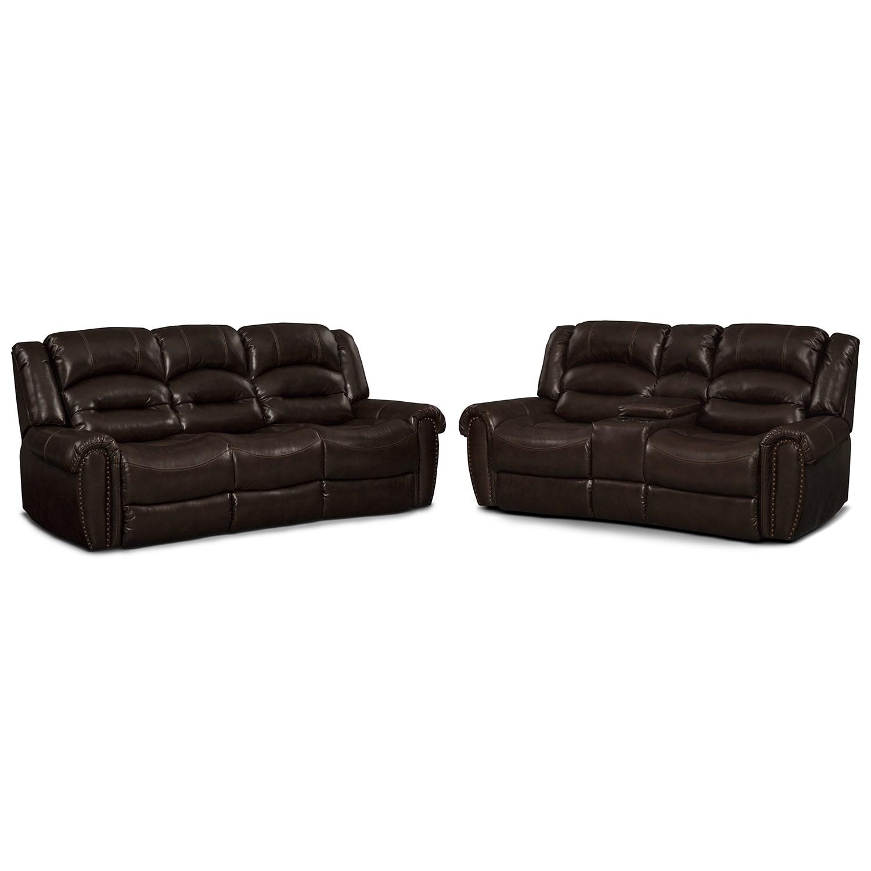 Living Room Furniture - Galveston 2 Pc. Reclining Living Room