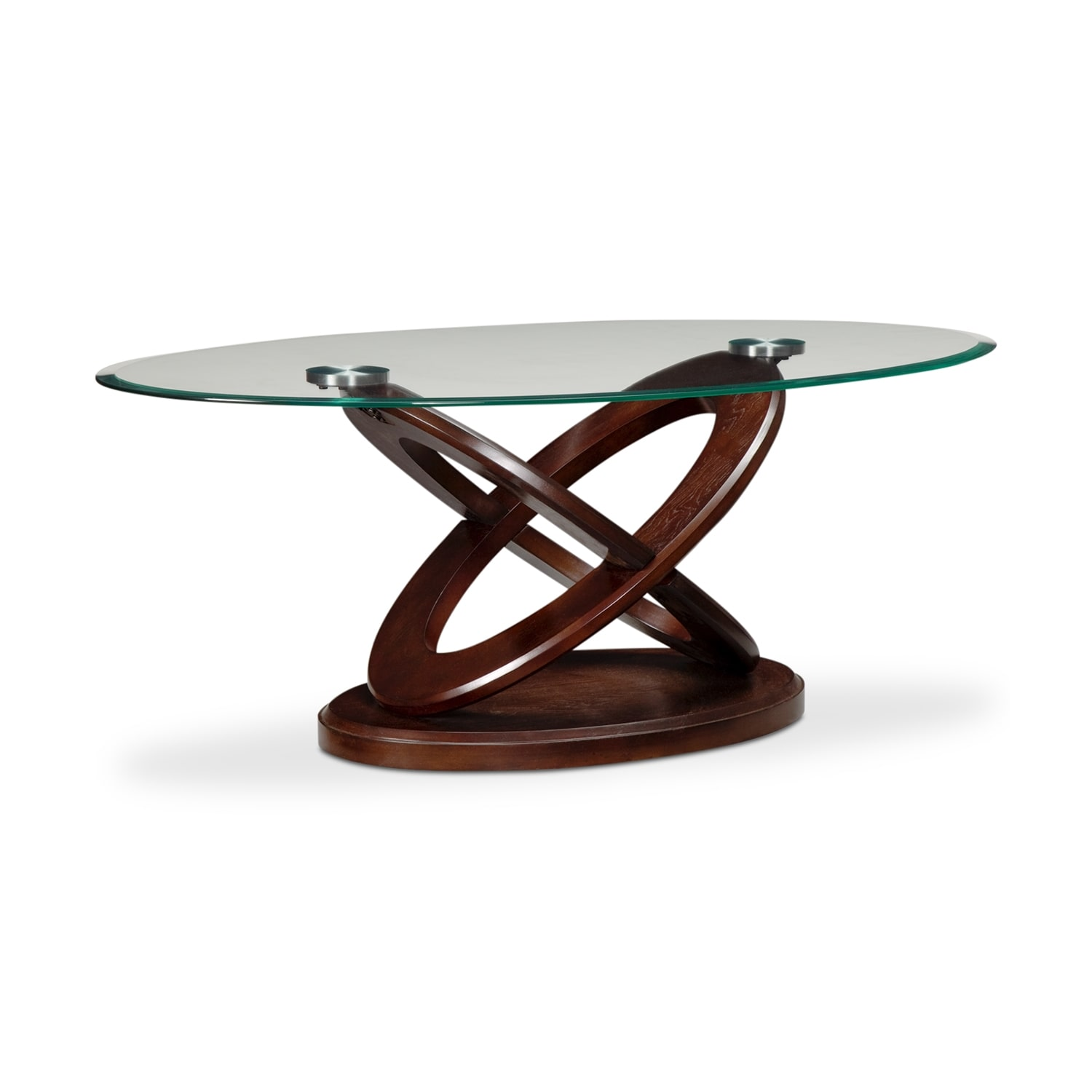 Atlas Cocktail Table - Dark Merlot
