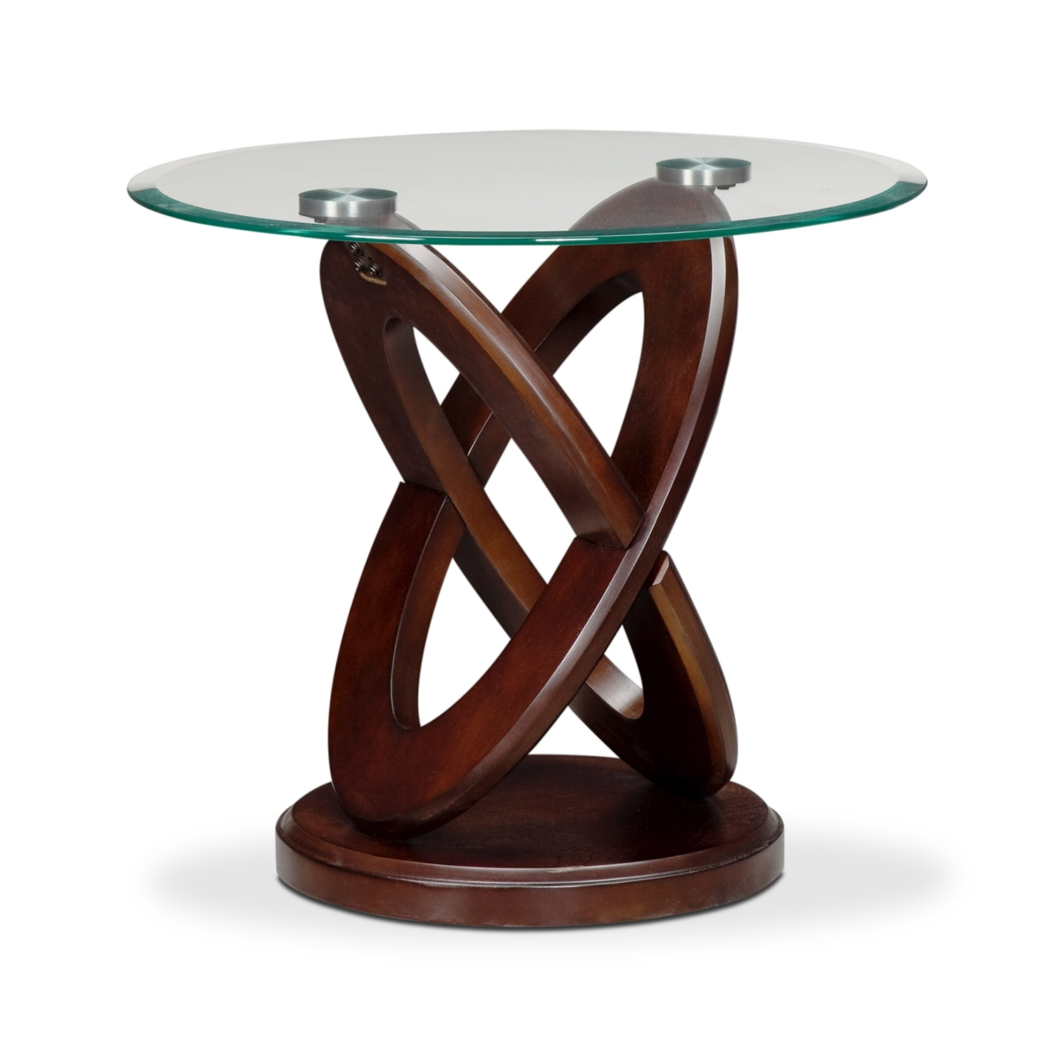Atlas End Table - Dark Merlot