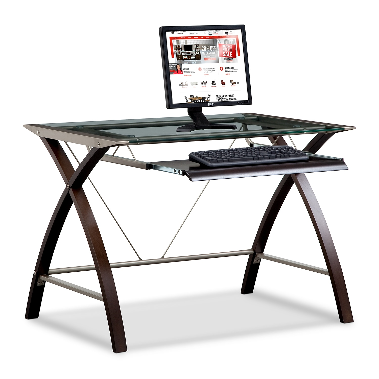 Home Office Furniture - Orion Computer Desk with Keyboard Tray