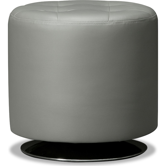 Accent and Occasional Furniture - Dominic Swivel Ottoman - Gray