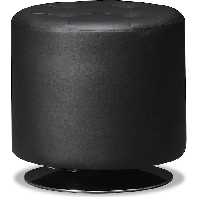 Accent and Occasional Furniture - Dominic Swivel Ottoman - Black