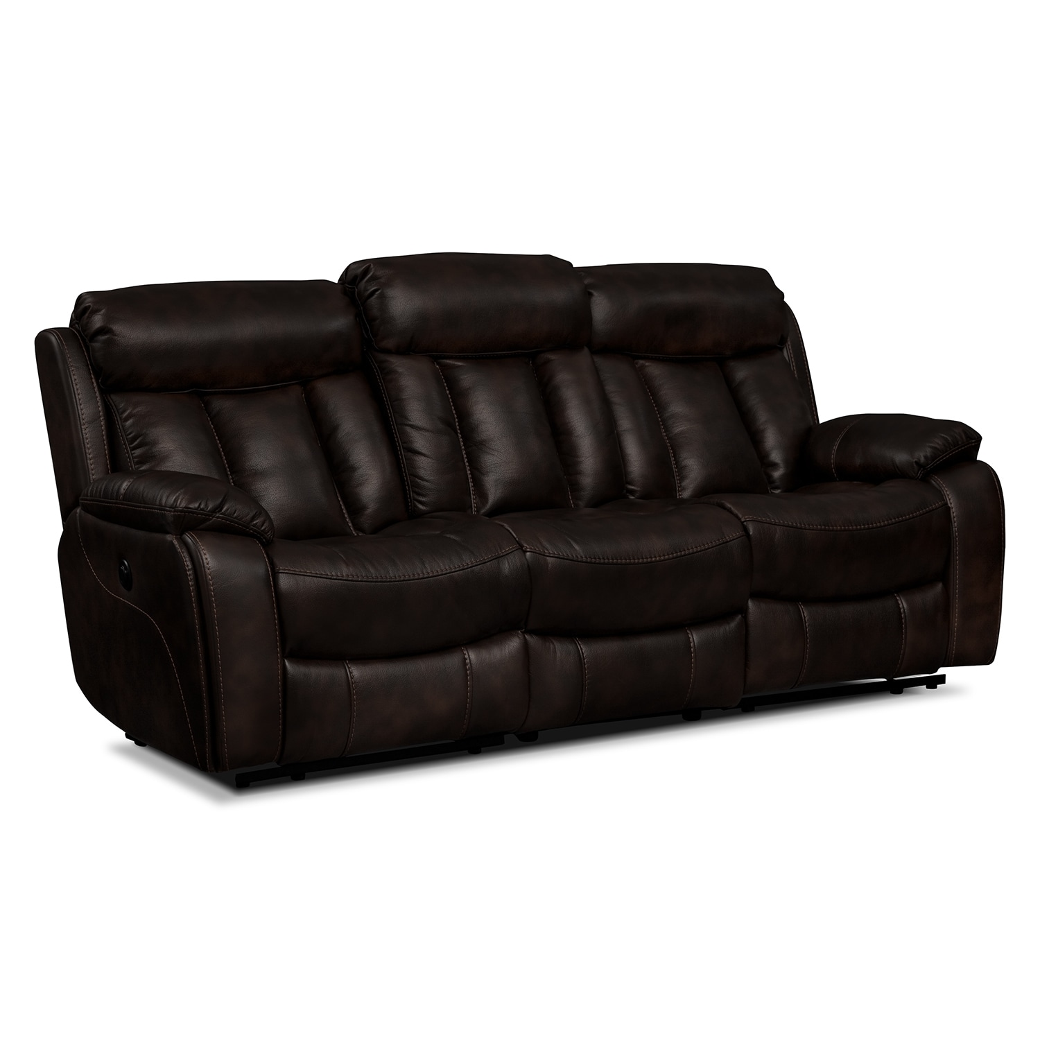 Living Room Furniture - Diablo Power Reclining Sofa - Walnut