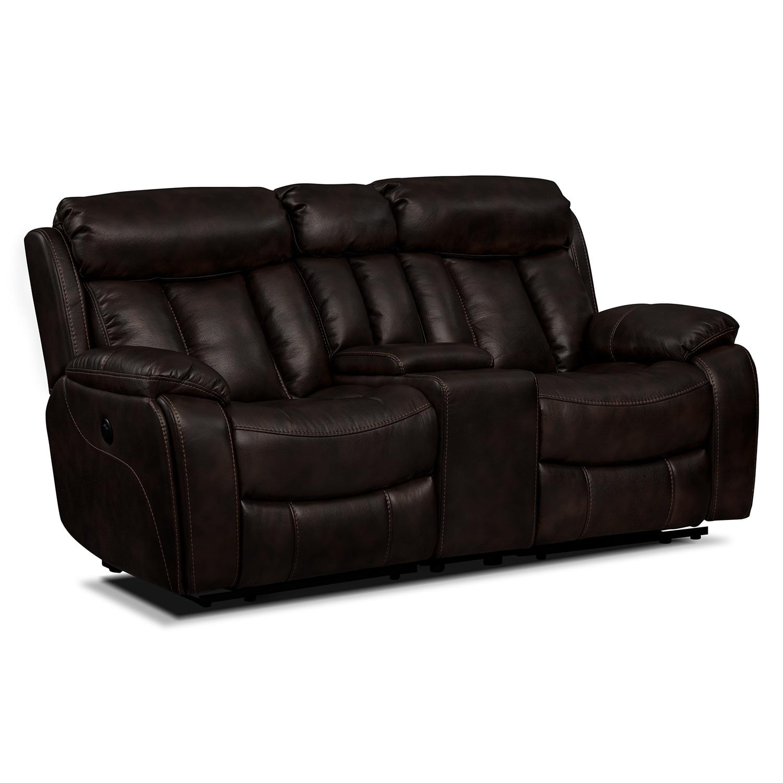 Living Room Furniture - Diablo Power Reclining Loveseat - Walnut