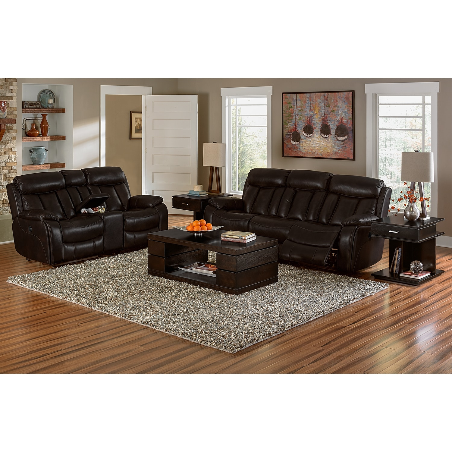 Diablo power reclining sofa walnut american signature furniture click to change image geotapseo Image collections