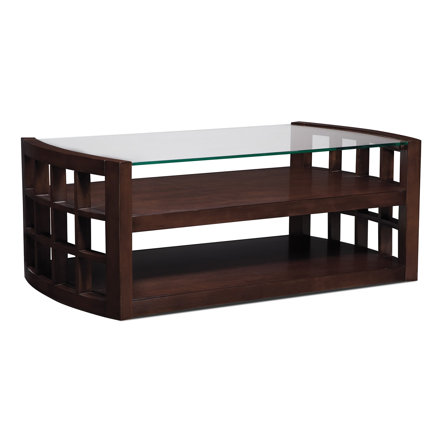 Accent and Occasional Furniture - Daytona Cocktail Table - Merlot