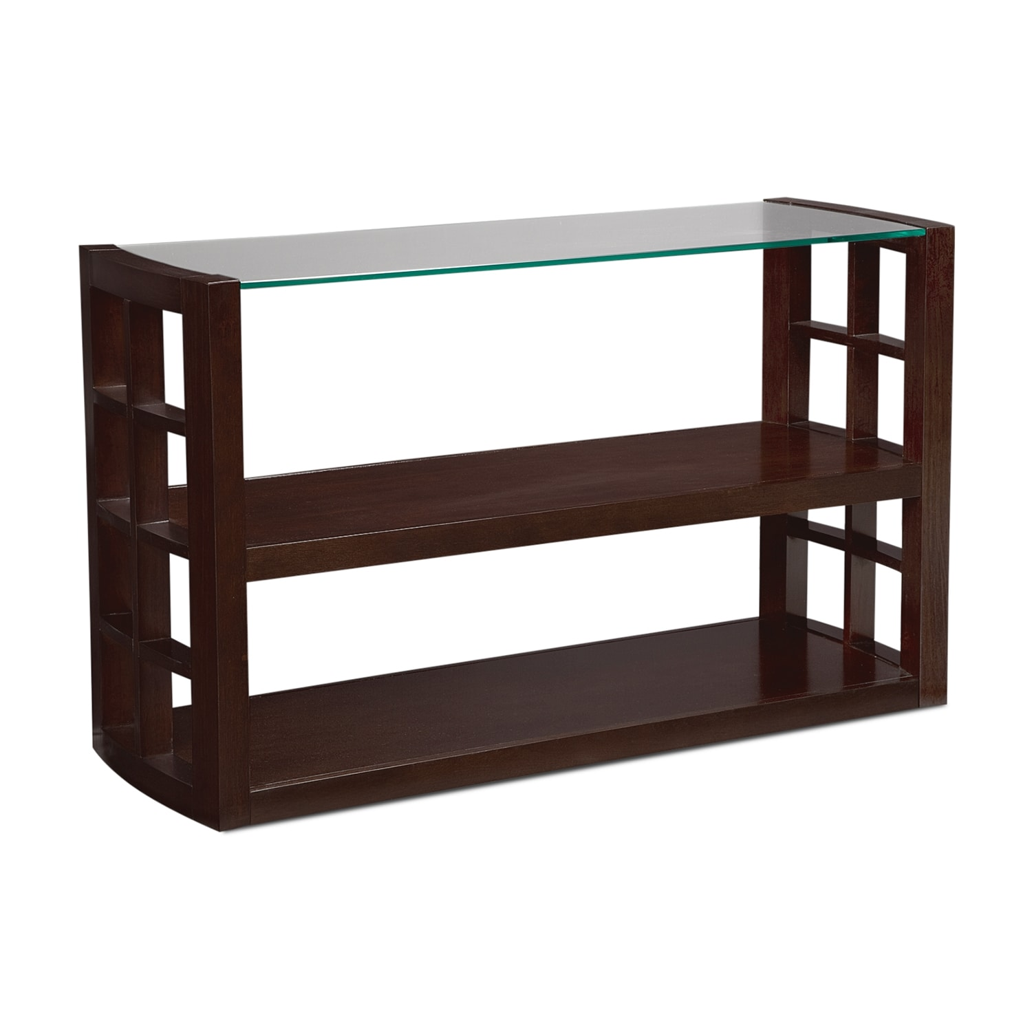 Accent and Occasional Furniture - Daytona Sofa Table - Merlot