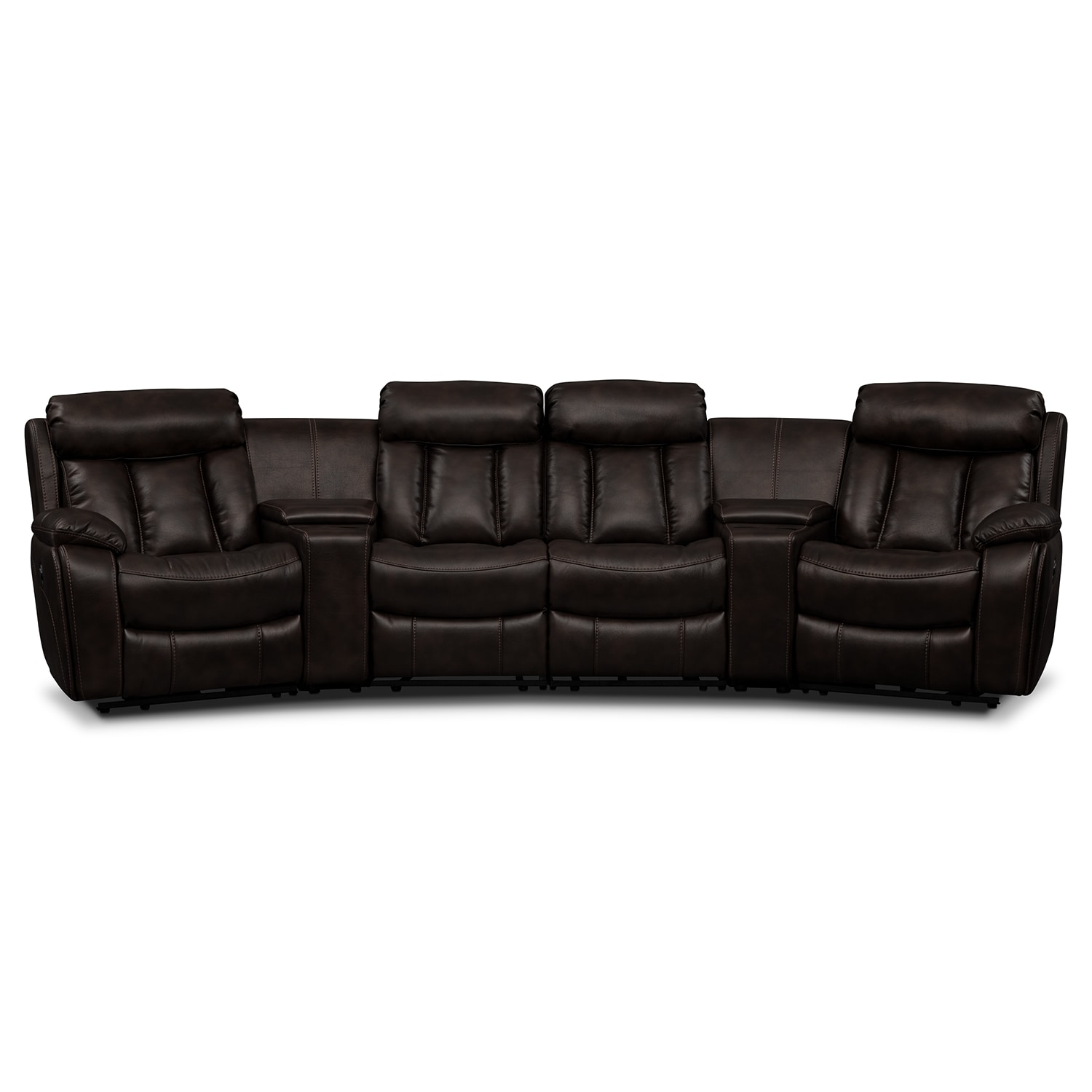 Living Room Furniture - Diablo 6 Pc. Power Reclining Sectional (Alternate II)