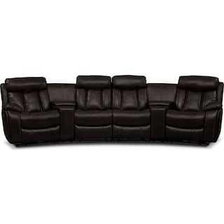 Diablo 6-Piece Power Reclining Sectional with 3 Power Reclining Seats