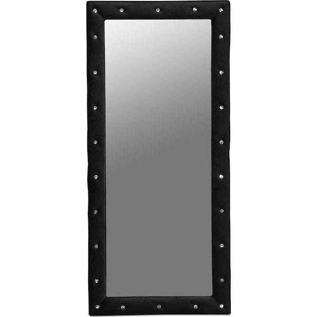 Bedroom Furniture - Valerie Floor Mirror - Black