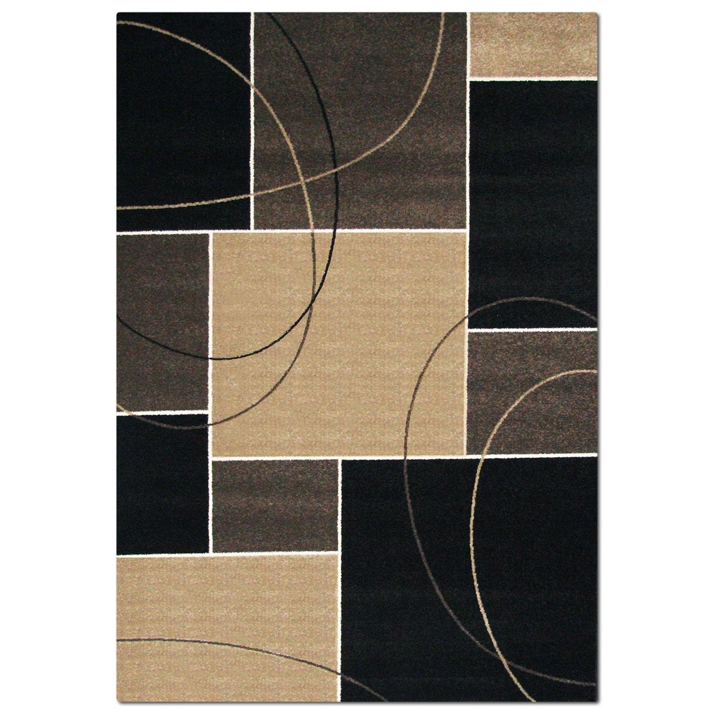 Rugs - Casa Dark Circles & Squares Area Rug (5' x 8')