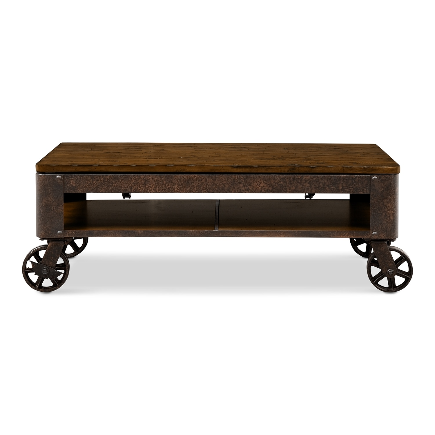 Coffee tables living room tables american signature furniture shortline lift top cocktail table distressed pine geotapseo Gallery