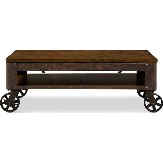 Accent and Occasional Furniture - Shortline Lift-Top Cocktail Table - Distressed Pine