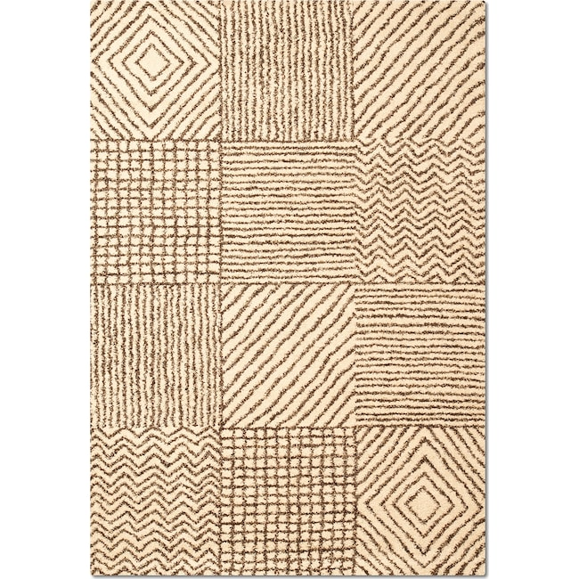 Rugs - Granada Sierra 8' x 10' Area Rug - Ivory and Chocolate