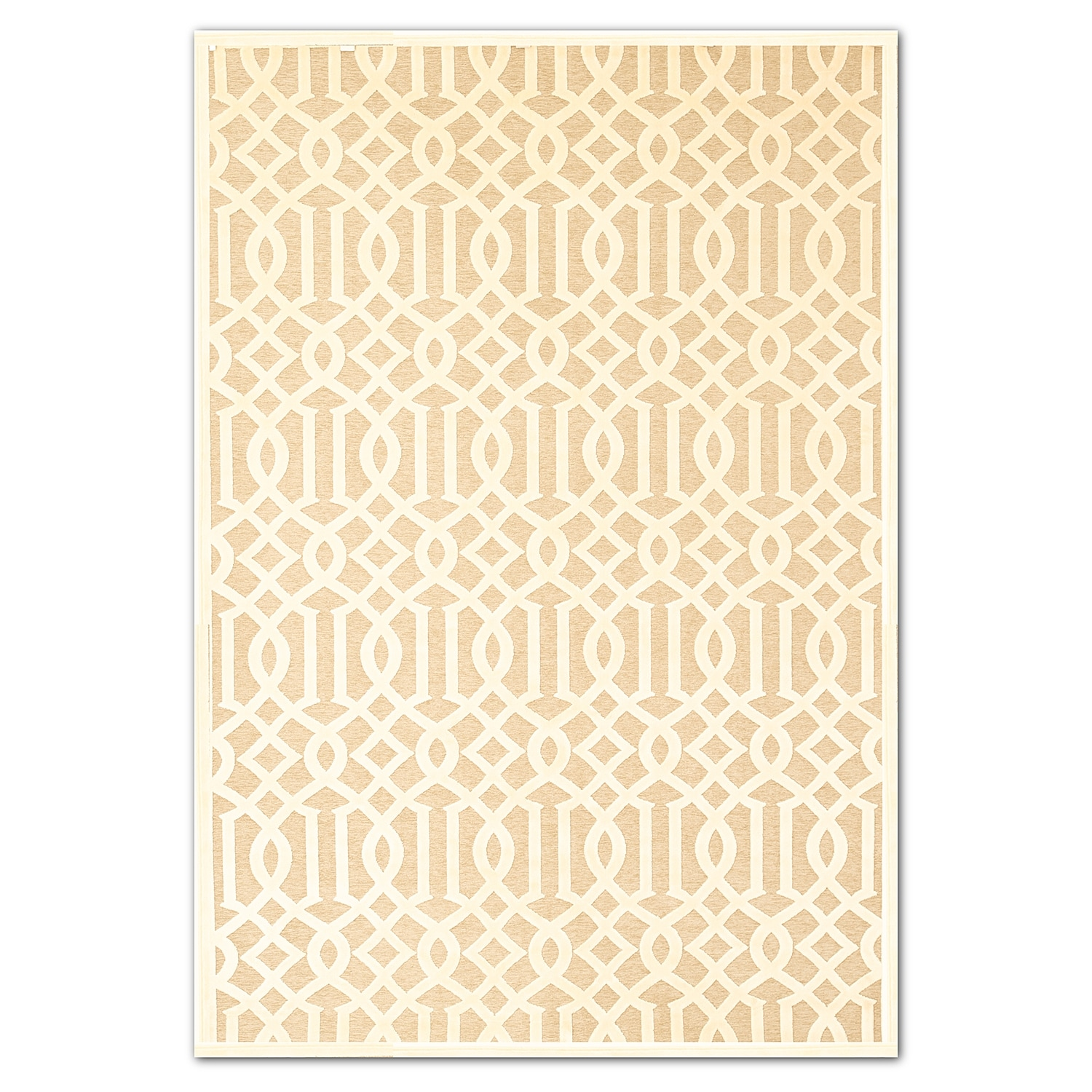 Rugs - Napa Baron 5' x 8' Area Rug - Ivory and Beige