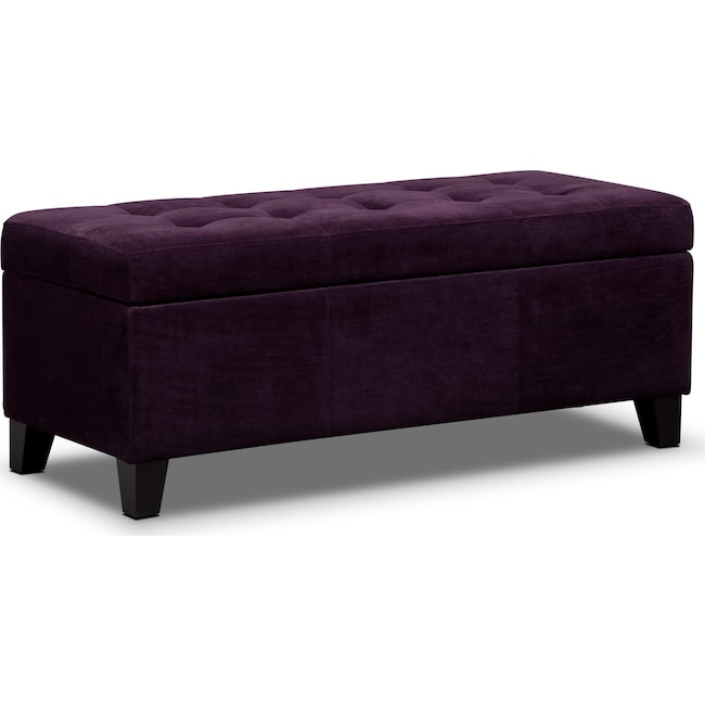 Accent and Occasional Furniture - Valerie Storage Bench - Purple