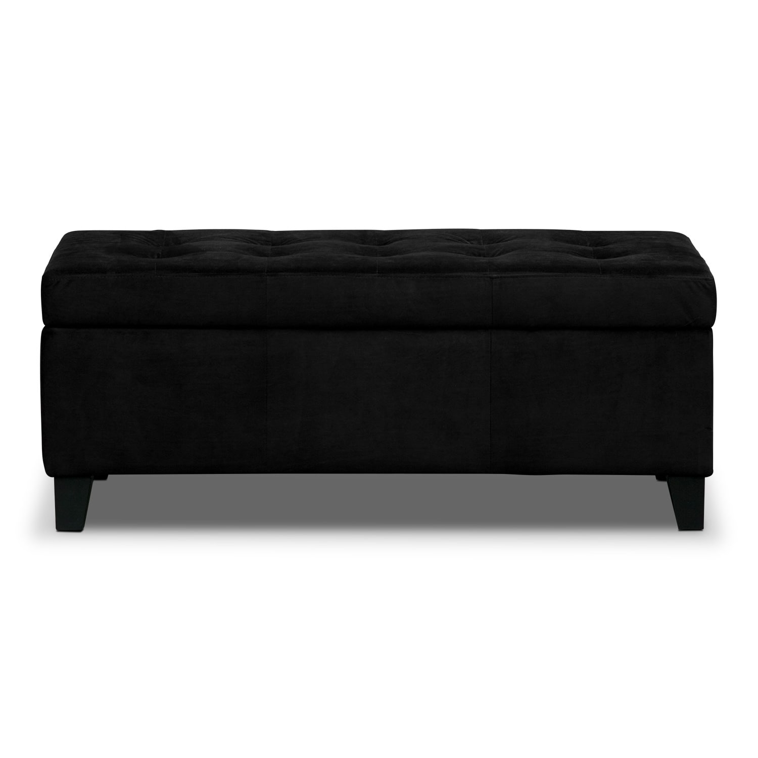 valerie storage bench  black  american signature furniture - click to change image