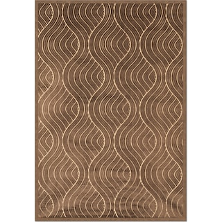 Napa Bale 5' x 8' Area Rug - Dark Brown and Beige