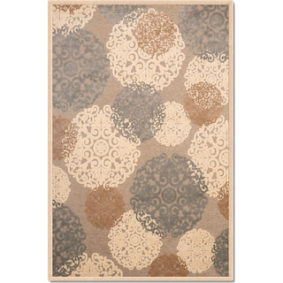Napa Light Snowflakes 5' x 8' Area Rug - Ivory and Teal