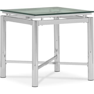 Nova End Table - Silver