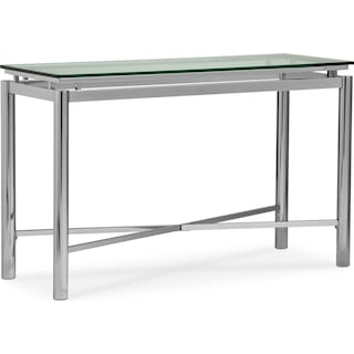 Nova Sofa Table - Silver