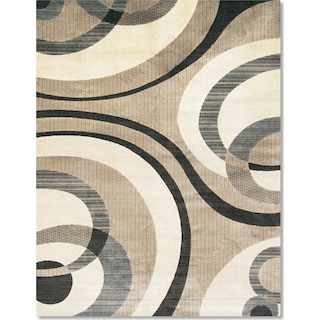 Sonoma Bennett 5 X 8 Area Rug Blue And Beige