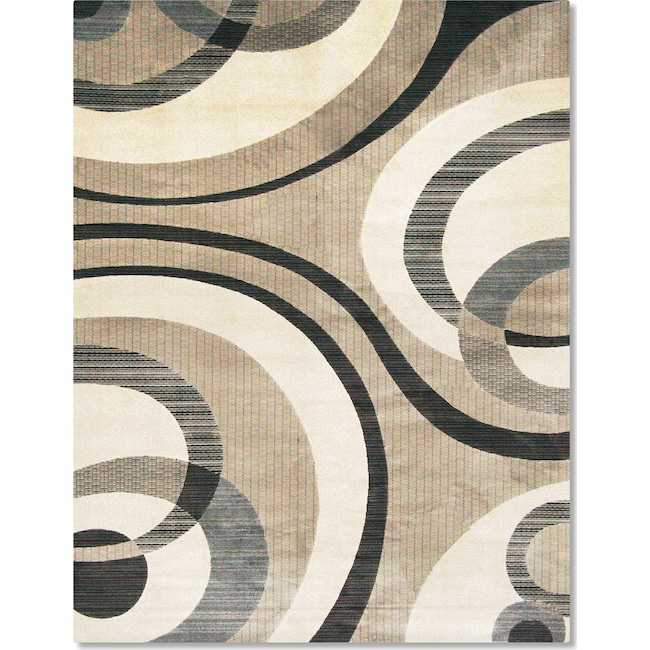 Rugs - Sonoma Bennett Area Rug - Blue and Beige