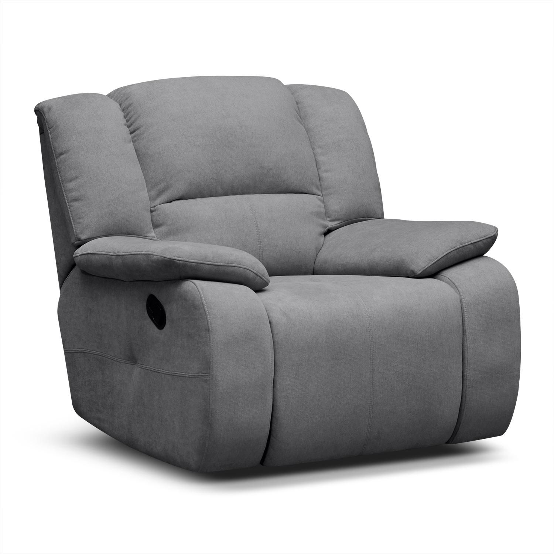 Living Room Furniture - Destin Gray Glider Recliner