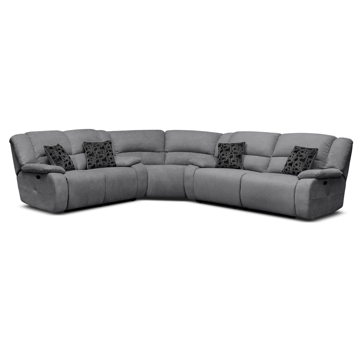 Destin Gray Ii Upholstery 3 Pc Power Reclining Sectional