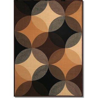 Terra Spheres 5' x 8' Area Rug - Black and Beige