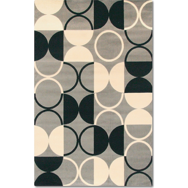 Rugs - Terra Luna 8' x 10' Area Rug - Black and White