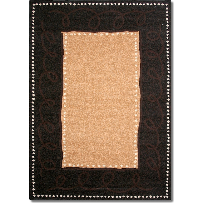 Rugs - Terra Devon 5' x 8' Area Rug - Black and Beige