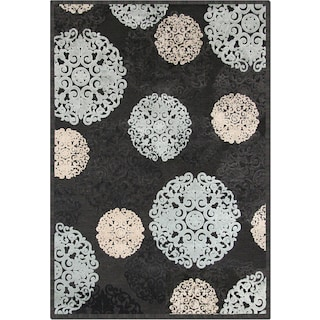 Napa Snowflakes 5'x 8' Area Rug - Blue and Ivory