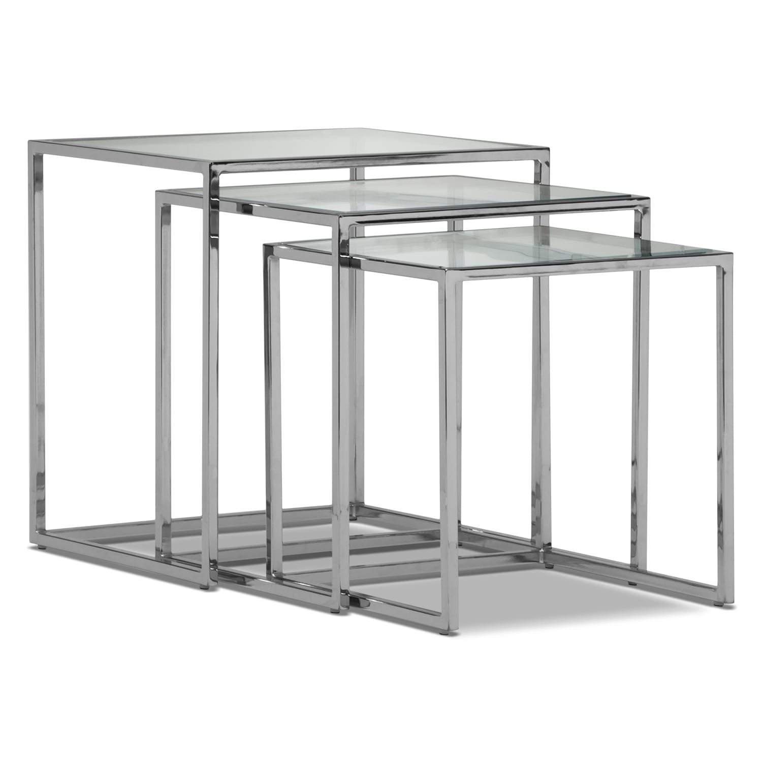 Illusion Nesting Tables - Silver
