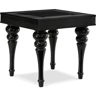 Paradiso End Table - Black Croc