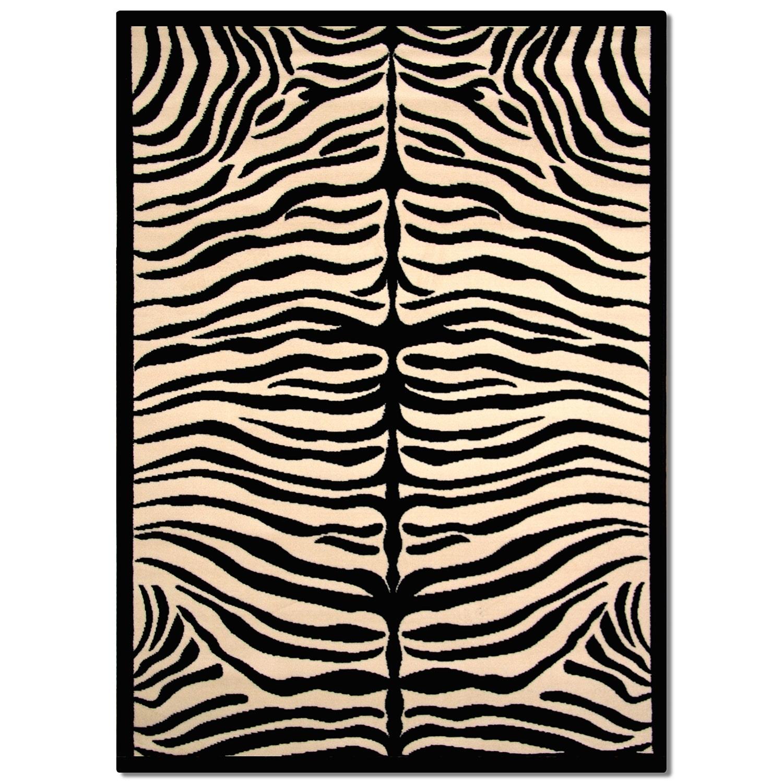 Terra Zebra 5' X 8' Area Rug - Black And White