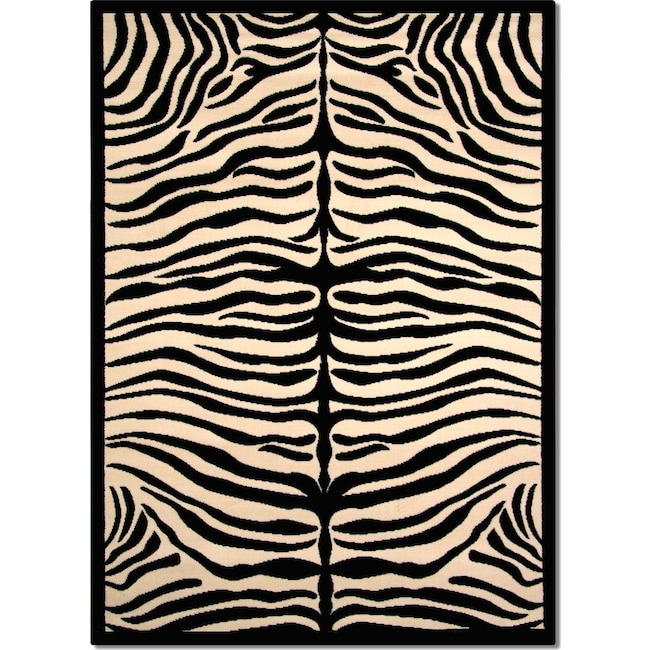 Rugs - Terra Zebra Area Rug (5' x 8')