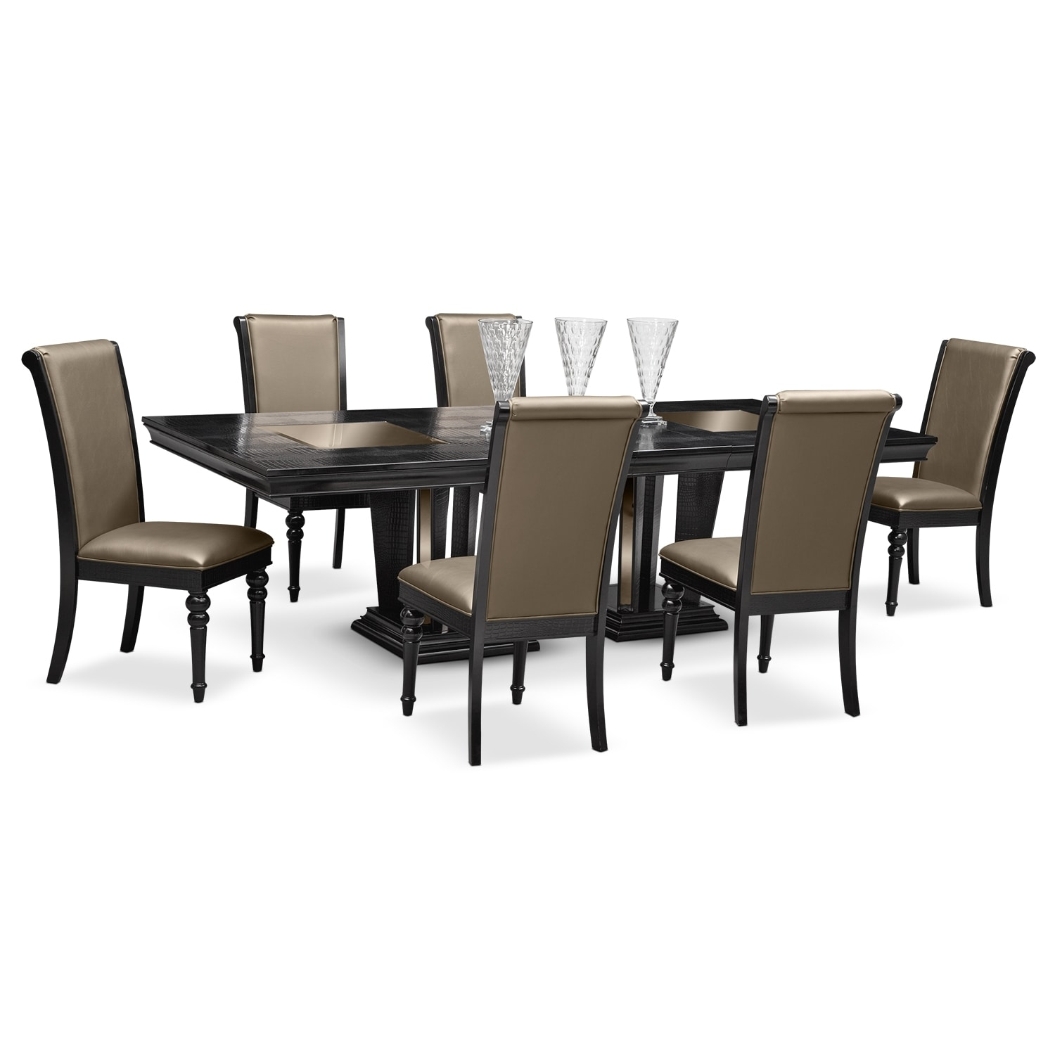 Dining Room Furniture - Paradiso 7 Pc. Dining Room