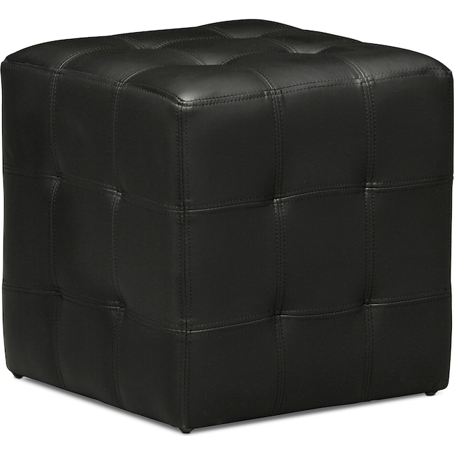 Accent and Occasional Furniture - Dylan Cube Ottoman - Black