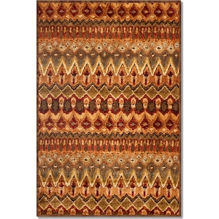 Napa Zigzag Area Rug - Red and Beige